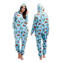 Body Candy Womens  Soft Hoodie Plush Onesie Critters, SO DEERLY, Blue - Medium