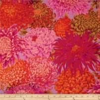 FreeSpirit Fabrics Kaffe Fassett Collective Japanese Chrysanthemum Pink Fabric By The Yard