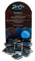 ZenEvo Dark Chocolate Energy - Dark Chocolate with Caffeine, Ginseng, Ashwagandha, and Maca - Provides Energy/Antioxidant Boost - 50 Ct