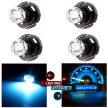 cciyu Replacement fit for 1998-2010 Honda Accord/Odyssey/Civic (ice blue) White T4/T4.2 Neo Wedge 1SMD LED Climate Control Light Lamp Bulb 4 Pack
