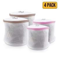 Spedalon Bra Bag for Washing Machine - Pack of 4 (2 Large + 2 Regular)   Mesh Laundry Bags for Delicates, Lingerie, Underwear, Socks