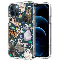 MOSNOVO Cute Space Cat Pattern Designed for iPhone 12 Case 6.1 Inch/Designed for iPhone 12 Pro Case 6.1 Inch,Clear Case with Design,TPU Bumper with Protective Hard Case Cover