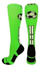 MadSportsStuff Soccer Socks with Soccer Ball Logo Over The Calf (Multiple Colors)