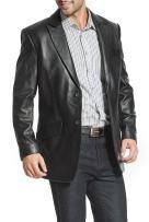 BGSD Men's Ben 2-Button Lambskin Leather Blazer (Regular Big & Tall and Short)