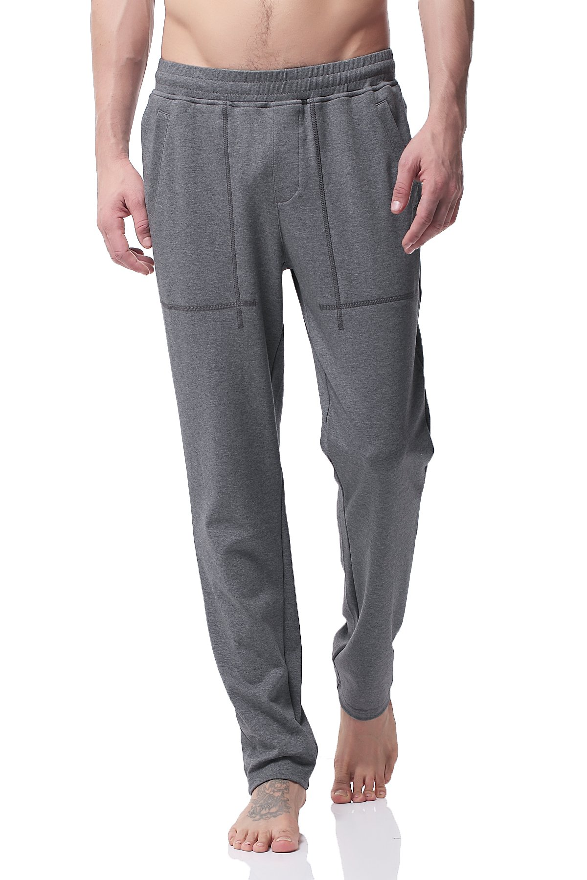 Pau1Hami1ton Men's Stretch Cotton Sweatpants Gym Running Training Track Yoga Pants PH-20