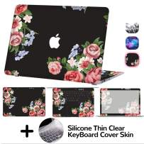 MacBook Air 13 Inch Decal Skin,4-Sided Full Set Vinyl Sticker Cover,Protective,Removable and Scratchproof for MacBook Air 13 Model A1369/A1466 (Flower)