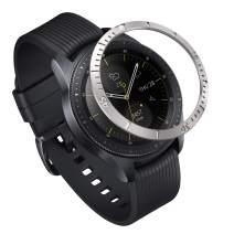 Ringke Bezel Styling for Galaxy Watch 42mm / Gear Sport Bezel Ring Adhesive Cover Anti Scratch Stainless Steel Protection [Stainless] for Galaxy Watch Accessory GW-42-02