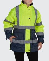 Utility Pro UHV664 Womens High-Vis Safety Jacket with Waterproof DuPont Teflon, Lime, Small