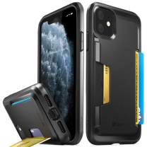 Vena iPhone 11 Card Case, vSkin Slim Wallet Case with Credit Card Holder Slot, Designed for iPhone 11 (6.1 inches) - Black