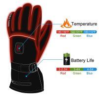 HEAT WARMER Men Women Winter Rechargeable Battery Heated Gloves Electric Heat.
