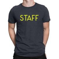 NYC FACTORY Staff T-Shirt Screen Printed Tee Printed Front & Back Staff Event Shirt