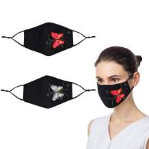 Design & Fashion Print Face Masks With Adjustable Elastic Ear Loops, Reusable & Breathable & Washable, Gift for Women Men
