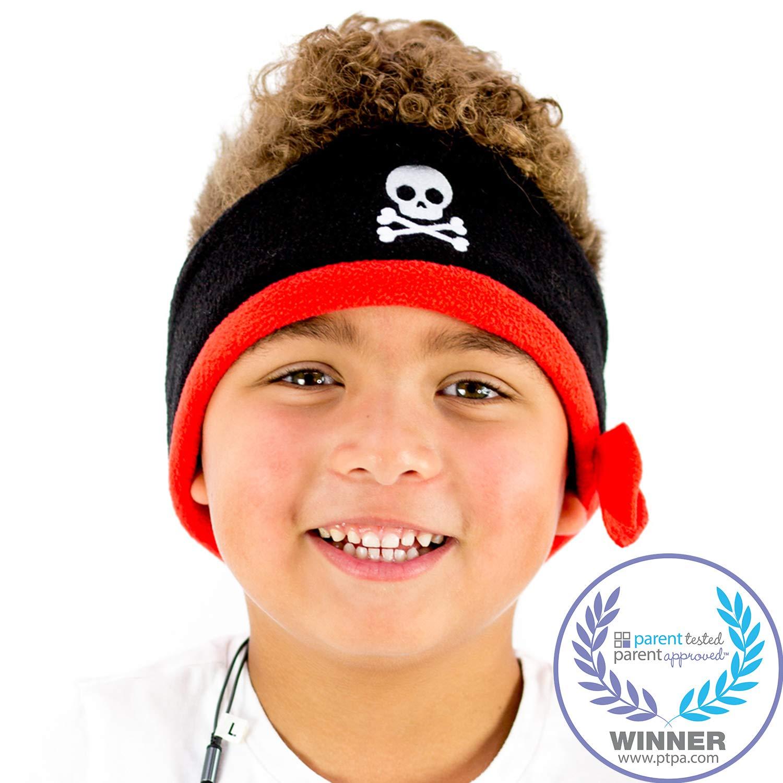 CozyPhones Kids Headphones Volume Limited with Ultra-Thin Speakers & Super Soft Fleece Headband - Perfect Toddlers & Children's Earphones for Home, School & Travel - Pirate