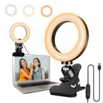 Volantech Video Conference Lighting Kit, LED Ring Light with Clip Clamp Mount, Selfie Light Clip on Computer, Monitor, Desk for Video Conferencing, Live Stream, Makeup, YouTube, TIK Tok, Vlogs