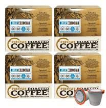 Fresh Roasted Coffee LLC, Swiss Water Decaf Colombian Coffee Pods, Medium Roast, 72 Count