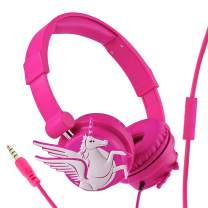 Wired Headphones for Kids/Teens/Adult, Adjustable Headband, Stereo Sound, Foldable with 3.5mm Jack for iPad Cellphones Computer MP3/4 Kindle Airplane School with Sharing Port