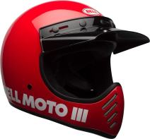 Bell Moto-3 Off-Road Motorcycle Helmet (Classic Gloss Red, X-Large)