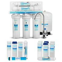 Geekpure 5-Stage Reverse Osmosis Drinking Water Filter System with Extra 7 Filters -NSF Certified Membrane Removes Up to 99% Impurities-Superb Taste High Capacity 75 GPD (RO5)