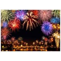 Allenjoy 7x5ft New Year Backdrop Annual Countdown NYE Shining Bokeh Fireworks Family Party Supplies Holiday Festival Decorations Celebration Photoshoot Props Photography Background Favors Booth Banner