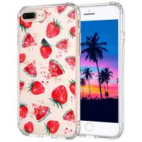MOSNOVO iPhone 8 Plus Case, iPhone 7 Plus Case, Watermelon and Strawberry Pattern Printed Clear Design Transparent Plastic Hard Back Case with TPU Bumper Protective Case Cover for iPhone 7 Plus/8 Plus