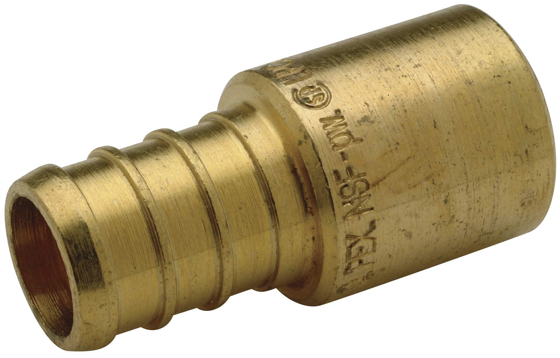 """Zurn QQ650CX Crimp Male Sweat Adapter, Small Diameter, 1/2"""" Male Sweat x 1/2"""" Barb, Copper (Pack of 50)"""