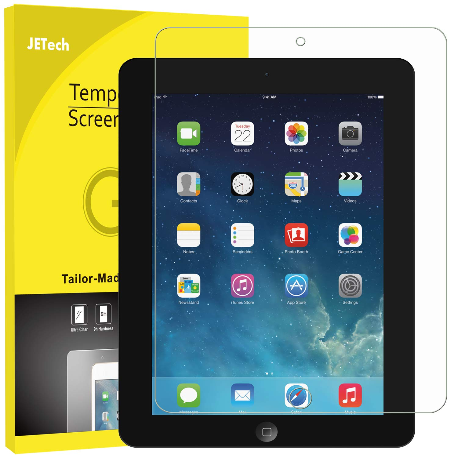 JETech 0337- Screen Protector for Apple iPad 2 3 4 (Old Versions), Tempered Glass Film