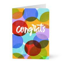 Hallmark Bulk Congratulations Cards for Graduation, Retirement, Customer and Employee Celebrations and other Professional Accomplishments (Colorful Dots) (Pack of 25 Greeting Cards for Business)