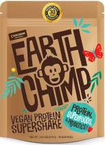 EarthChimp Vegan Protein Powder (26 Servings, 32 Oz) with Superfoods, Probiotics, Organic Fruits & Plant Based Protein Powder, Dairy Free, Gluten Free, Gum Free, Lactose Free, Non GMO, (Chocolate)