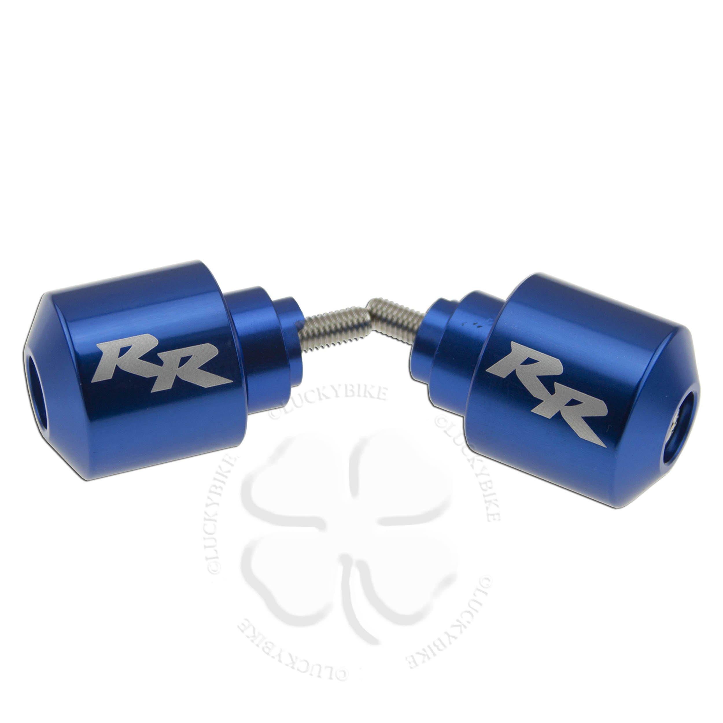Blue Handle Bar End CNC RR Engraved Weight Slider Etched For Honda CBR RR Slug