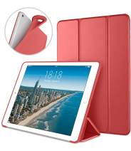DTTO Case for iPad Mini 4,(Not Compatible with Mini 5th Generation 2019) Ultra Slim Lightweight Smart Case Trifold Stand with Flexible Soft TPU Back Cover for iPad mini4[Auto Sleep/Wake], Red