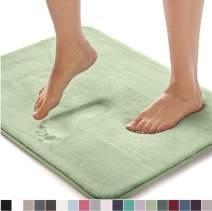 Gorilla Grip Original Thick Memory Foam Bath Rug, 48x24, Cushioned, Soft Floor Mats, Absorbent Premium Bathroom Mat Rugs, Machine Wash and Dry, Luxury Plush Comfortable Carpet for Bath Room, Sage