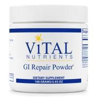 Vital Nutrients - GI Repair Powder - Promotes Healthy Intestinal Function and a Healthy Gastrointestinal Lining - Vegetarian - 168 Grams
