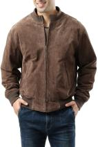 Landing Leathers Men's WWII Suede Leather Tanker Jacket (Regular and Big & Tall Sizes)