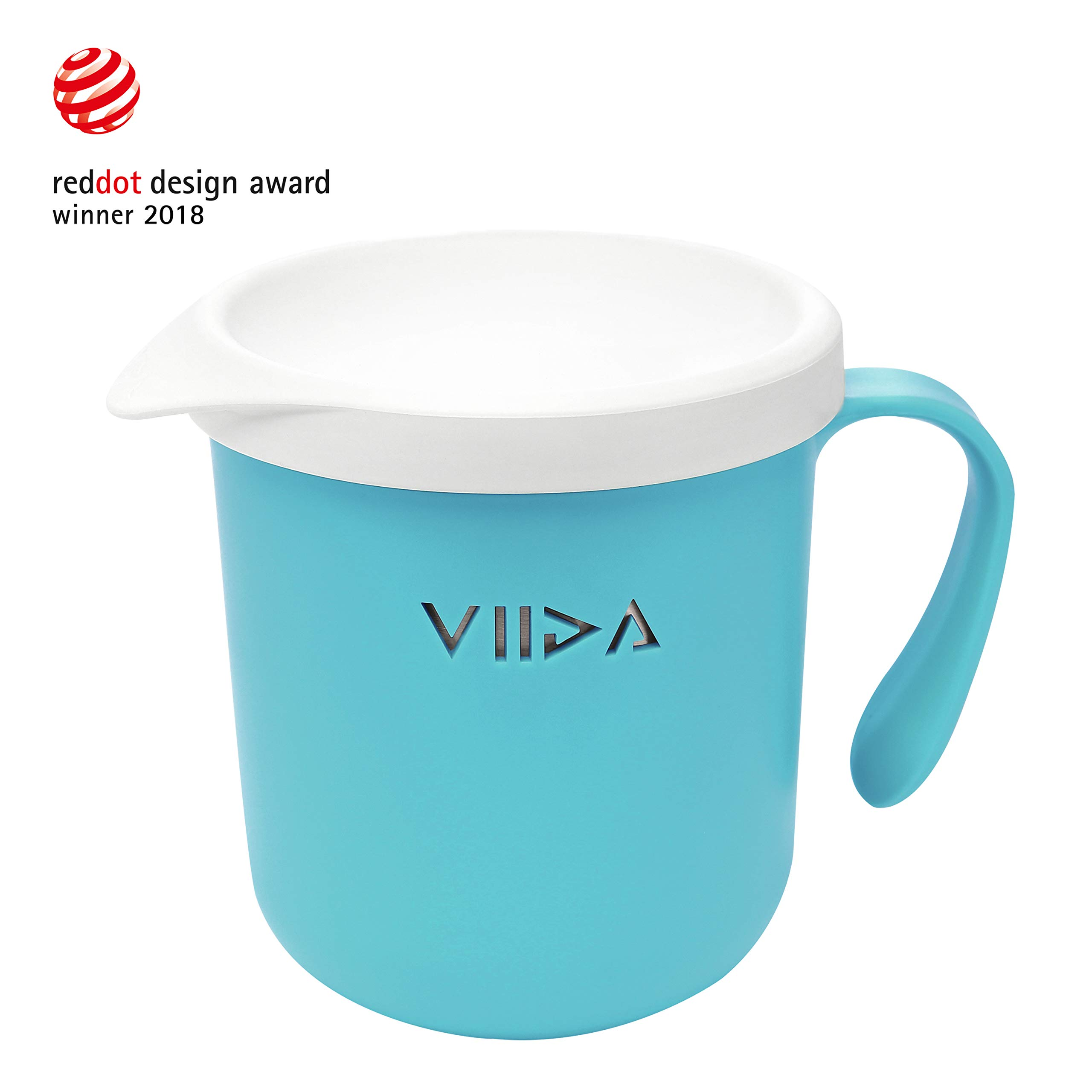 VIIDA Soufflé Cup – Stainless Steel, Detachable, Stackable, Unbreakable, with Lid – Drinking Glasses, Sippy Cup - BPA-Free, Dishwasher-Safe - for Baby, Toddlers, Kids - Baby Blue