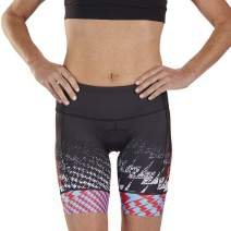 Zoot Women's Ultra 7-Inch Tri Shorts - High Performance Triathlon Shorts with Hip Holster Pockets