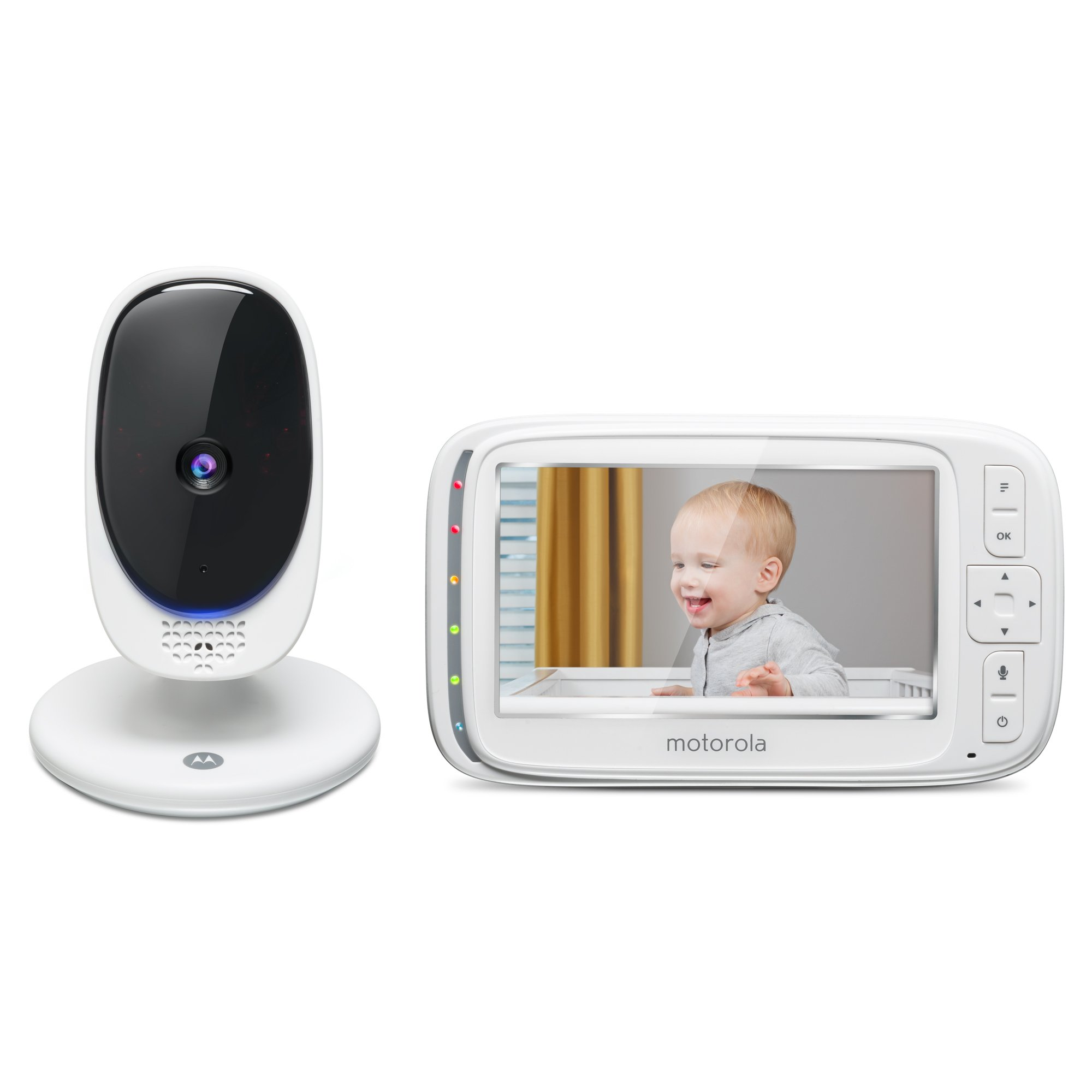 """Motorola Comfort 50 Video Baby Monitor with 5"""" Color Display, Digital Zoom, Two-Way Audio, Infrared Night Vision and 5 Soothing Lullabies"""