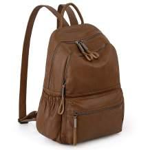 Backpack Purse for Women PU Leather Bagpacks Ladies Purse Waterproof Nylon Rucksack Shoulder Bag