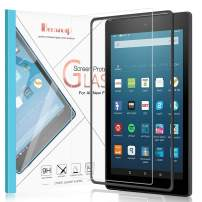 Benazcap Tempered Glass Screen Protector for Fire HD 8 Tablet (8th/7th/6th Generation, 2018/2017/2016 Release)-Anti Scratch/Installation Frame/Oil Resistant/High Definition [2 Pack]