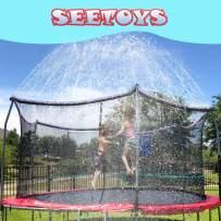 SEETOYS Trampoline Sprinklers for Kids (50ft) ,Outdoor Trampoline Spray Waterpark Fun Summer Water Game Toys,Boys Girls Fun Summer Outdoor Water Game Sprinkler Accessories,Party Birthday Gifts.