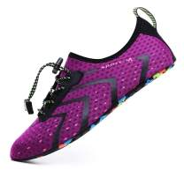 CanLeg Water Swim Shoes Beach Sports Quick Dry Barefoot for Womens Mens(CL196001Purple43)