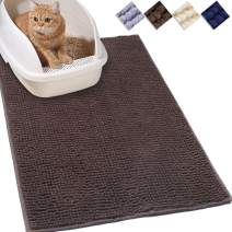 """Vivaglory Cat Litter Mats, 31""""× 20"""" Large or 35""""× 25"""" Extra Large Super Soft Microfiber Pet Mats for Litter Boxes with Waterproof Back, Machine Washable"""