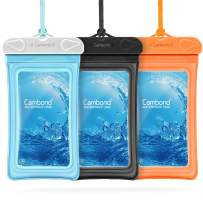 Cambond Floating Waterproof Phone Pouch, 3 Pack Waterproof Phone Case, Transparent PVC Water Proof Cell Phone Pouch Dry Bag with Lanyard for iPhone Xs Max XR X 8 7 6 Plus (Blue+Black+Orange)