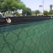 Clevr 6' x 50' Wind Privacy Screen Fence, Commercial Grade Fabric Mesh with Durable Grommets, Green (Set of 10-500' Long) | 3 Year Limited Warranty 140GSM