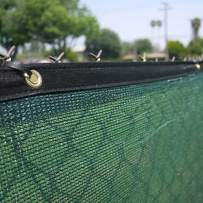 Clevr 6' x 50' Wind Privacy Screen Fence, Commercial Grade Fabric Mesh with Durable Grommets, Green (Set of 6-300' Long) | 3 Year Limited Warranty 140GSM