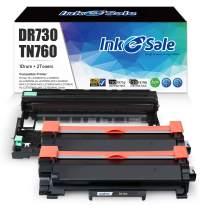 INK E-SALE Compatible Toner Cartridge and Drum Set Replacement for Brother TN760 TN730 DR730 (2 Toner + 1 Drum, Design V3) for HL-L2350DW L2370DW XL L2390DW L2395DW DCP-L2550DW MFC L2710DW L2750DW