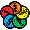 """Crown Sporting Goods Hot Shot Training Markers, 5-Pack - 7.5"""" Basketball Training Spots - Round Flat Number Dots for Youth & Adult Team Sports"""