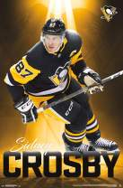 "Trends International NHL Pittsburgh Penguins - Sidney Crosby, 22.375"" x 34"", Unframed Version"