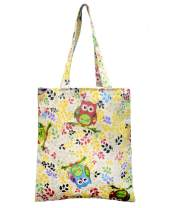 POPUCT Cute Owl Cotton Shoulder Bag Canvas Tote Shopping Bag for Women and Kids