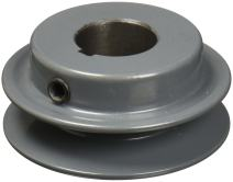 """TB Woods AK2212 FHP Bored-to-size V-Belt Sheave, A Belt Section, 1 Groove, 1/2"""" Bore, Cast Iron, 2.25"""" OD, 11120 max rpm"""