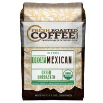 Fresh Roasted Coffee LLC, Green Unroasted Mexican Decaffeinated Coffee Beans, USDA Organic, Swiss Water Process, 5 Pound Bag